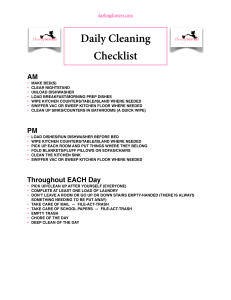 dailycleaningchecklist checklists for keeping your home clean